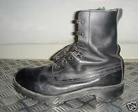 Genuine British Army Black Leather Vintage Combat / Assault Boots - UK size 9