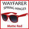 Retro Wayfarer Spring Temple Sunglasses - Matte Red WF 03