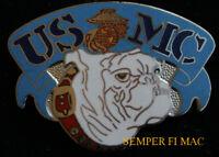 US MARINES BULLDOG HAT PIN USMC DEVIL DOG SEMPER FI  EGA FMF USS MCB MCASWOW!