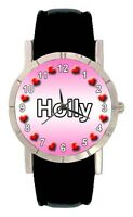 Name - Holly Mens Ladies Genuine Leather Band Water Resistant Wrist Watch SA1628