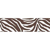 BROWN ZEBRA PRINT 16' Wall Border Wallpops Animal Stripe Sticker Room Decor Kids