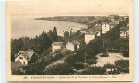 74-THONON-Boulevard de la corniche et le lac leman