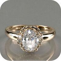 18K ROSE GOLD GP MADE WITH SWAROVSKI CRYSTAL WEDDING RING US 5.25 UK AU K 1/2