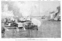 BATTLE OF MANILLA SPANISH AMERICAN WAR 1898 BATTLESHIP SQUADRON BY HARRY FENN