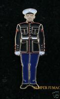 US MARINES DRESS BLUE UNIFORM HAT PIN MCRD PROMOTION GRADUATION GIFT MOM DAD SON
