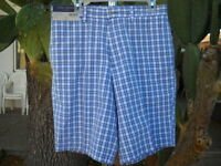 NWT! NEW W/TAGS DANIEL CREMIEUX MENS 32 COTTON PLAID SHORTS $55 RETAIL FREE SHIP