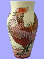 Superb Dennis Chinaworks Cockerel Lustre Vase By Sally Tuffin - Limited Edition