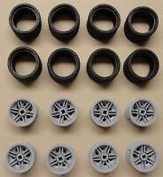 x16 NEW Lego PCS Technic NXT Wheels TIRES RIMS 37 x 22 Light Bluish Gray