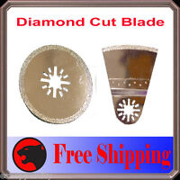 2 Diamond Cut Oscillating MultiTool Blade For Milwaukee Ryobi Ridgid Craftsman