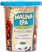 KONA COFFEE GLAZED MAUNA LOA MACADAMIA NUTS  5.5 OZ CAN