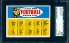 1957 Topps Football Checklist SGC 92 NM/MT++++  The hobby's #1 example!