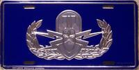 Aluminum Military License Plate Air Force & Navy Explosive Ordnance Disposal NEW