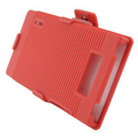 For LG Venice LG730 COMBO Belt Clip Holster Case Phone Cover Kick Stand Red