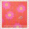 BonEful Fabric FQ Cotton Quilt Hippie Orange Purple Pink Daisy Flower Stripe DOT