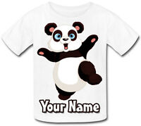 PANDA PERSONALISED KIDS T-SHIRT - GREAT GIFT FOR ANY CHILD & NAMED TOO