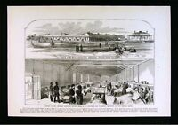 Leslie Civil War Print US Federal General Hospital at Hilton Head South Carolina