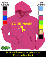 PERSONALISED KIDS DANCE HOODIE / HOODIES - GREAT GIFT FOR A CHILD & NAMED TOO