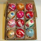Vintage Christmas Hand Painted Glass Mica Poland Ornaments IOB T39 #2