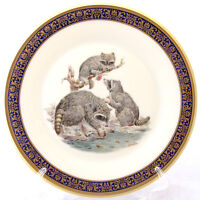 LENOX BOEHM WOODLAND WILDLIFE RACCOONS COLLECTOR PLATE 1973 LIMITED EDITION MINT
