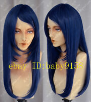 Hot Sell! New Hot Sell! Long black & blue Straight Cosplay Party Wig    N.0566