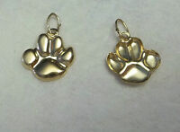 1 14K Gold Filled over Sterling Silver 12x10mm Bear Tiger Dog..Paw Print Charm