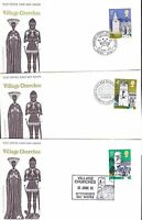 1972 GB Churches 5 Values On 5 Covers Each With Different Special Postmarks H213