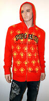 CHRISTIAN AUDIGIER Ed Hardy PACO CHICANO HOODIE Cross Yellow Sweater Shirt Mens