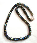 """AAAHigh Qualit Natural Labradorite Faceted Rondelle Bead Necklace6×3mm~10×6mm18"""""""