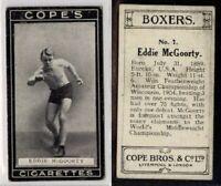 (Le370-286) Cope, Boxers, #7 Eddie McGoorty 1915 VG