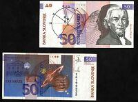 BANCONOTA SLOVENIA 50 Tolarjev DEL 1992 BANCONOTA SLOVENIA QUASI FDS CIRCULATED