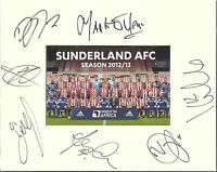 10 x 8 inch mount personally signed by 7 of the Sunderland 2012-13 squad