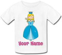 BLONDE PRINCESS PERSONALISED CHILDS T-SHIRT GREAT KIDS GIFT & NAMED TOO