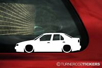 2x LOW Alfa Romeo 155 V6 , GTA outline silhouette stickers, Decals