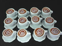 12 Cups of Cappuccino Dollhouse Miniatures Supply Food