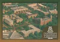 University of Arkansas, Fayetteville, Ozark Mountains, Campus Aerial -- Postcard