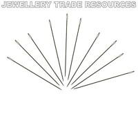 10 x Beading Needles for Stringing & Threading Beads & Pearls 0.30mm Size 13
