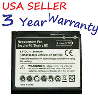 Battery for HTC Surround Desire HD Inspire 4G Replaces BD26100  35H00141-00M