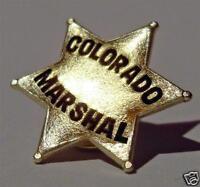 metal COLORADO MARSHAL sheriff star PIN BADGE button