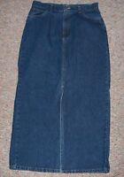 ST. JOHN'S BAY Blue Denim Medium Rinse Denim Jean Skirt with Front Slit Size 8
