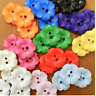 5 X  BIG FLOWER BUTTONS  sizes 23mm & 38mm red blue green orange pink white ....