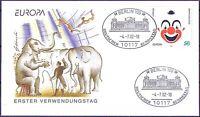 BRD 2002: Zirkus! FDC selbstklebende Nr 2272 mit Berliner Bundestags-Stempel! 1A