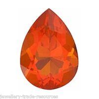 Natural Fire Opal 7x5mm Pear Cut Orange Gem Gemstone