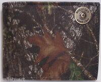 MOSSY OAK BRAND CAMO Shotgun Shell End Cap Leather WALLET Bifold w minor defects