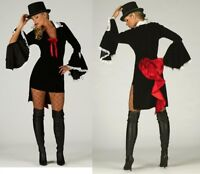 FANCY DRESS HALLOWEEN  VAMPIRE VAMPIRESS OUTFIT AV IN 8 TO 18