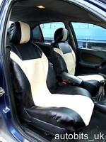 FRONT LEATHERETTE SEAT COVERS BEIGE-BLACK  FOR VW CADDY TRANSPORTER T5 MULTIVAN