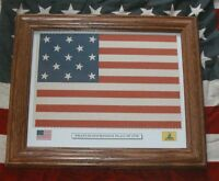 Framed Revolutionary War Flag,  13 Star American Flag,  Francis Hopkinson Flag