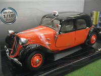 CITROËN TRACTION TAXI 1938 bicolore 1/18 SOLIDO 421183020 voiture miniature coll