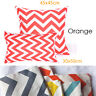 1xOrang,White Chevron Cushion Covers Striped Zig Zag/European Pillowcase 65x65cm