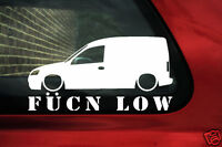 Vauxhall / opel combo C fukn low sticker decal for combo C van 1.7 DTi , 1.6