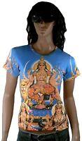 DURGA MATA with Lion Hindu Gods Poster Tattoo Art Art ViP Designer T-SHIRT S